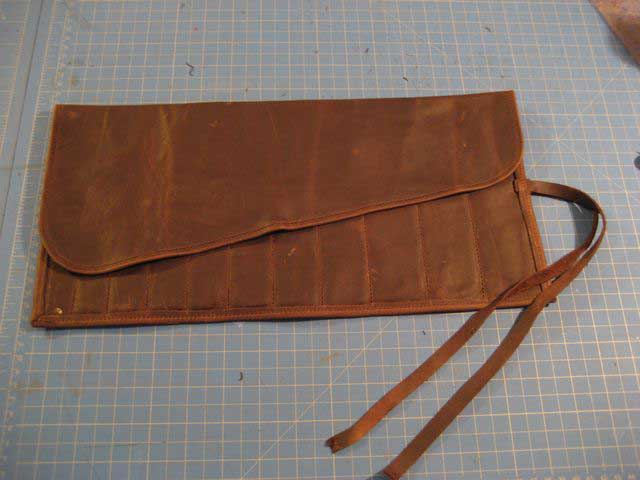 Leather Tool Roll Large Roll up Tool Pouch Leather