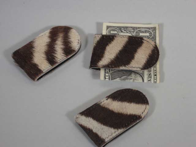 Zebra Money Clip