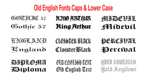 Font--Old-English